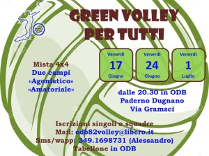 Volantino Green Volley